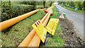 J4778 : Gas pipes, Ballyleidy, Bangor (May 2018) by Albert Bridge