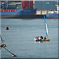 SX9372 : A helping hand for a novice sailor, Teignmouth harbour by Robin Stott