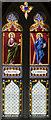 SK9799 : Enamel painted glass window, St Andrew's church, Redbourne by Julian P Guffogg