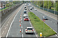 J3775 : Marathon day, Sydenham bypass, Belfast (7 May 2018) by Albert Bridge