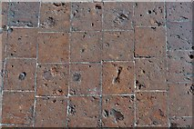 TQ5243 : Penshurst Place, Baron's Hall: Detail of tiles covering the entire floor by Michael Garlick