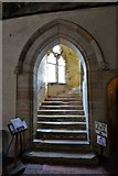 TQ5243 : Penshurst Place, Baron's Hall: Doorway and stairs leading to the state rooms by Michael Garlick