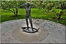 TQ5243 : Penshurst Place: The Naiad Statue in the Magnolia Garden 2 by Michael Garlick