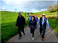 H4465 : First Omagh Church Walking Group at Tattyreagh Glebe by Kenneth  Allen