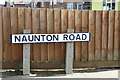 TM2649 : Naunton Road sign by Adrian Cable