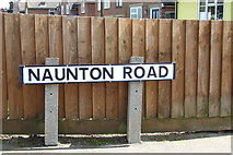 TM2649 : Naunton Road sign by Geographer