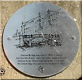 TG2407 : Old Carrow Bridge abutment - plaque by Evelyn Simak