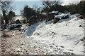 SX8864 : Snowy bank, Cockington valley by Derek Harper