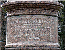 NS5564 : James Wilson memorial by Thomas Nugent
