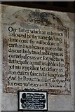 SO3958 : Pembridge, St. Mary the Virgin Church: c17th mural writings 3 by Michael Garlick