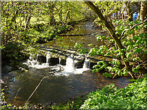 SD9772 : Weir on  Kettlewell Beck by Stephen Craven
