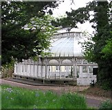 TG2407 : Grade 2 listed conservatory by Carrow House by Evelyn Simak