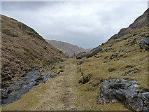 NG8701 : Stalkers' path in Gleann Unndalain by Richard Law