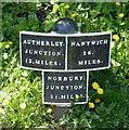 SJ8220 : Shropshire Union Canal milepost at Gnosall Heath by Mat Fascione