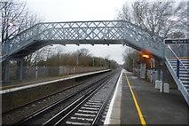 TR2353 : Footbridge, Adisham Station by N Chadwick