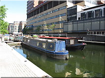 TQ2681 : Myriad, narrowboat in Paddington Basin by David Hawgood