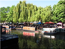 TQ2681 : Merlin and Opportunity narrowboats, Little Venice Canalway Cavalcade by David Hawgood