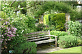 TQ3499 : Garden bench, Capel Manor College by Jim Osley