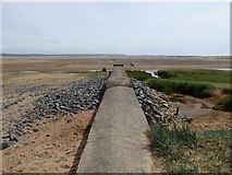 SD1578 : Outfall on Haverigg Bank by Oliver Dixon