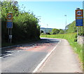 SO1823 : Start of the 40 zone on the A479, Cwmdu, Powys by Jaggery