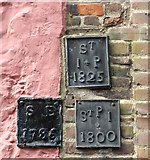 TG2308 : 168 King Street -parish boundary markers by Evelyn Simak