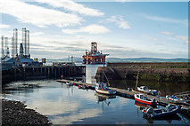 NH7867 : Cromarty Harbour by Julian Paren