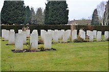 TQ5937 : Commonwealth War Graves, Kent & Sussex Cemetery by N Chadwick