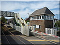 NX9711 : SRPS Cumbrian Coast Railtour 2018 : St Bees Signal Box And Level Crossing by Richard West