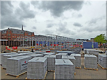 SO9198 : New retail market in Wolverhampton by Roger  Kidd