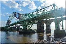 SJ5183 : Silver Jubilee Bridge maintenance, Halton by Matt Harrop
