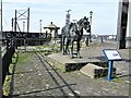 SJ3389 : Waiting, Monument at Canning Dock, Liverpool : Week 20