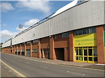 TG2407 : Carrow Road skirting the football stadium by Evelyn Simak