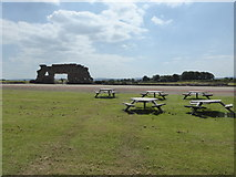 SJ5608 : Scene at Wroxeter Roman remains by Jeremy Bolwell