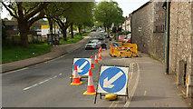 SX9066 : Roadworks, Barton Hill Road, Torquay  by Derek Harper