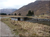 NG8704 : Barrisdale bridge and a new barn by Richard Law