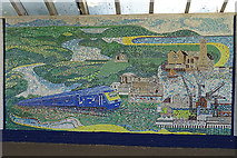 SW8132 : Mural at Falmouth Docks Station by Anne Burgess