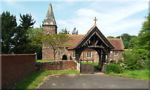SY0191 : Farringdon: by St Petrock's church by Martin Bodman