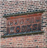 TG2407 : The Gothic Works in Hardy Road (name plaque) by Evelyn Simak
