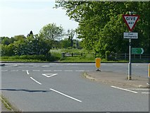 SK6513 : Gaddesby Lane junction by Alan Murray-Rust