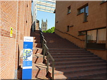 SO8454 : Steps to The King's School, Worcester by Jeff Gogarty