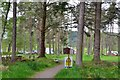NH4557 : Car park and walks, Torrachilty Forest by Jim Barton