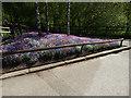 SE2641 : Triangular flower bed, Golden Acre Park by Stephen Craven