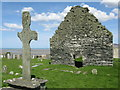 NR2871 : Cill Naoimh chapel, cross and burial ground by M J Richardson
