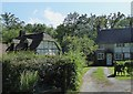 SU9637 : Hambledon - National Trust cottages by Rob Farrow