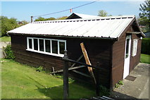 TM3569 : Shed at Peasenhall & Sibton Bowling Green by Geographer