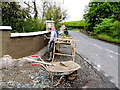 H4969 : Plastering a wall, Donaghanie by Kenneth  Allen