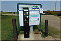 TM4762 : Sizewell Beach Car Park pay machine by Adrian Cable