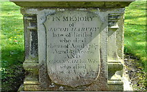 ST7581 : 18th Century Epitaph on Tomb, St John the Baptist Churchyard, Old Sodbury, Gloucestershire 2017 by Ray Bird