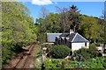 NH6167 : The Far North Railway near Newton by Chris Heaton