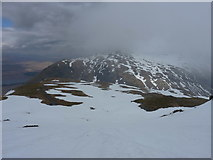 NN3239 : Extensive snowpatch on Beinn Dorain by Richard Law
